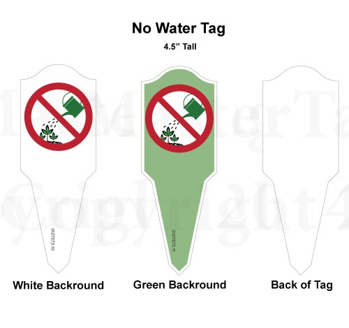 No Water Tags